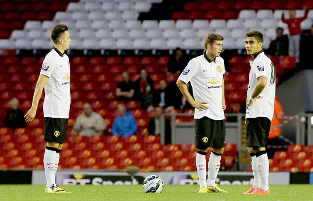 Comeback: Manchester United Under 21s had to show character to come back from a goal down