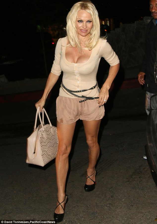 No thanks: Pamela Anderson, pictured in West Hollywood on Wednesday, has refused to do the ALS ice bucket challenge