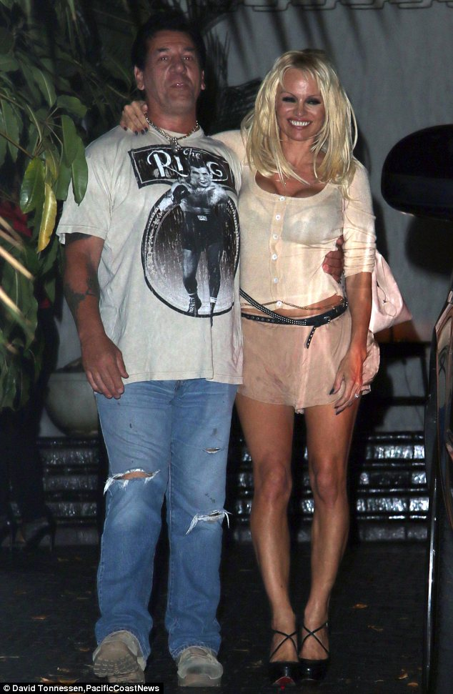 Well she is a knockout: Pamela had been hanging out with amateur boxer Frank Zito at the Chateau Marmont