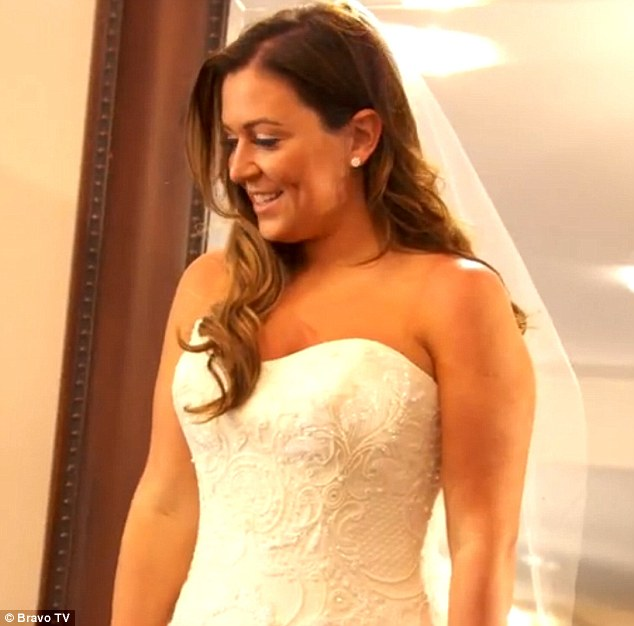 'Little princess girl': Caroline's daughter showed off her new slender figure while trying on a wedding gown as her mother teared up in the trailer