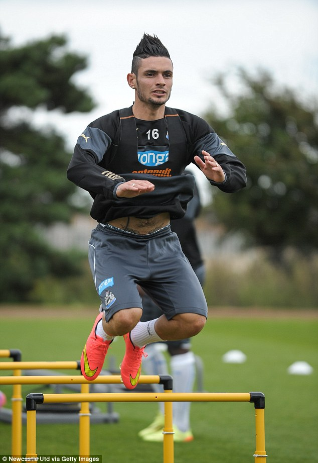 New boy: Remy Cabella was signed by Newcastle from French side Montpellier for £7million this summer