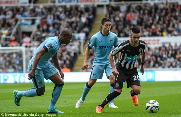 Spark: Manager Alan Pardew believes Cabella (right) is the sort of player Newcastle have been missing
