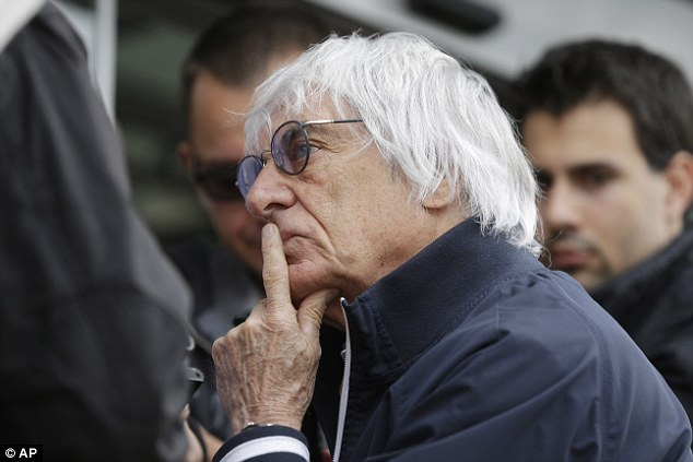 Back in charge: Bernie Ecclestone talks to reporters at Spa in advance of the Belgian Grand Prix. He is once again able to concentrate his energies fully on Formula One following the end of his bribery trial in Germany