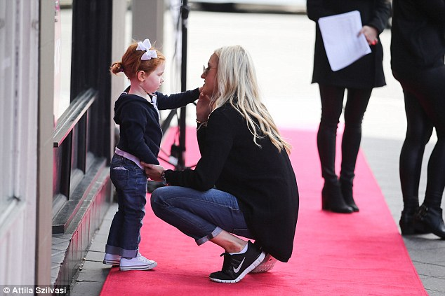 Family first: Pixie Curtis was with mum and PR guru Roxy Jacenko at a work event in Sydney on Saturday