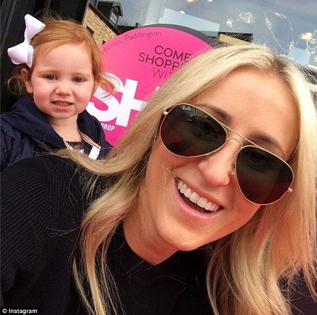 Happy: Thirty-four-year-old Roxy took to Instagram to share an array of sweet snaps of her toddler