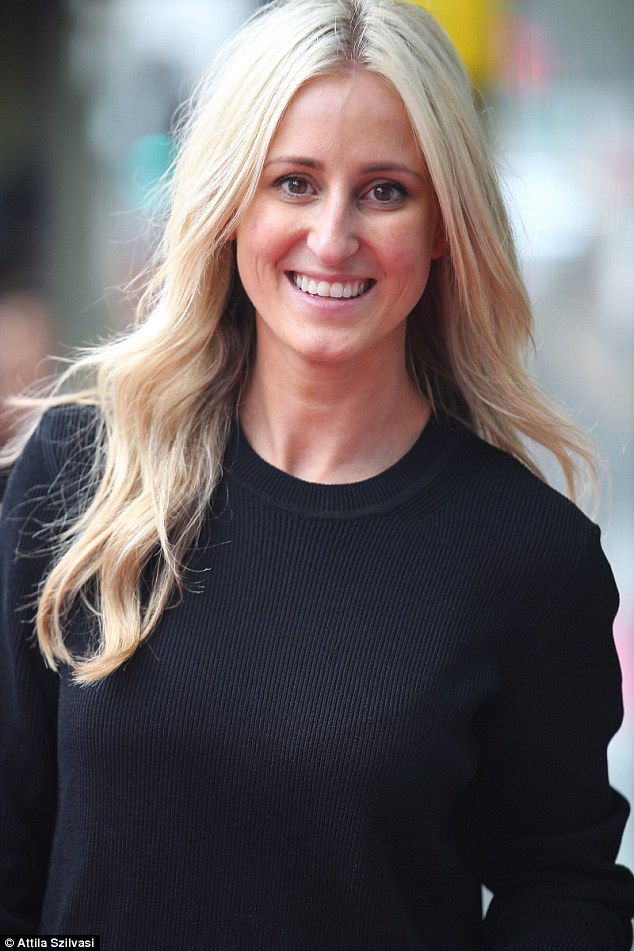 Stunner: The loving mother-of-two wore minimal make-up and styled her blonde tresses into a loose curl