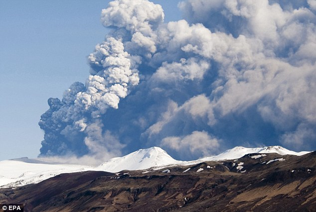 Thick smoke:A 2010 eruption of the Eyjafjallajokul volcano produced an ash cloud that caused a week of international aviation chaos, with more than 100,000 flights cancelled