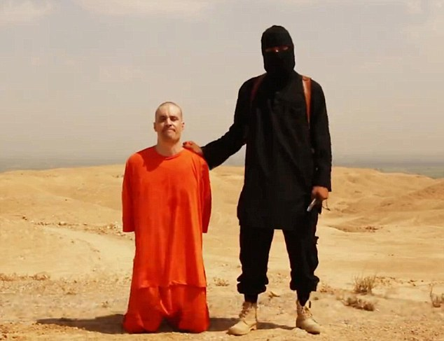Jim Foley, left, was murdered by a British born Isis terrorist who has been named 'Jihad John', right