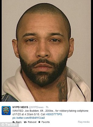 Wanted: NYPD tweeted Budden's photo asking the public for help in finding him