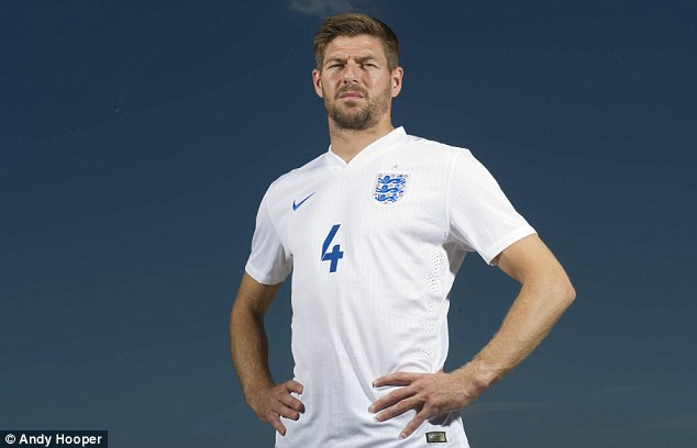 Called it a day: Gerrard retired from international football in July after winning 114 caps for England