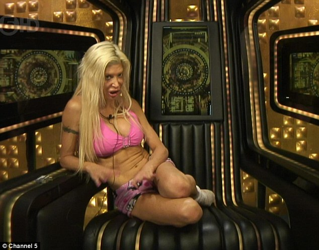 On the warpath: The eccentric star declared war on her fellow housemates while claiming her actions would make her 'famous'