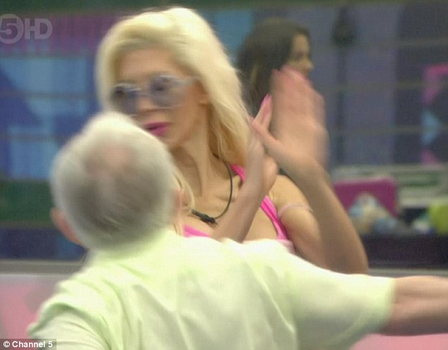 Catfight: Tensions between drama queens Frenchy and Leslie Jordan reached an all-time high in the Celebrity Big Brother house on Saturday