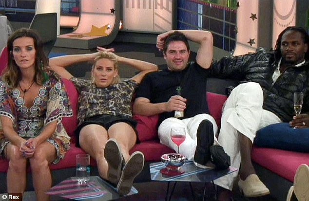 Front row view: The other housemates remained quiet while everything was kicking off