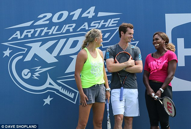 Best of the best: Andy Murray (C), Victoria Azarenka and Serena Williams will be among US Open favourites