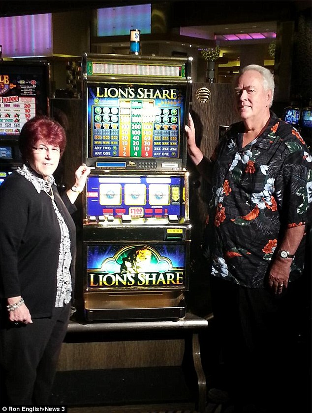 Jackpot!: New Hampshire couple Walter and Linda Misco won $2.4 million on Friday when the notorious  Lions Share machine finally paid off after two decades at the MGM Grand casino in Las Vegas