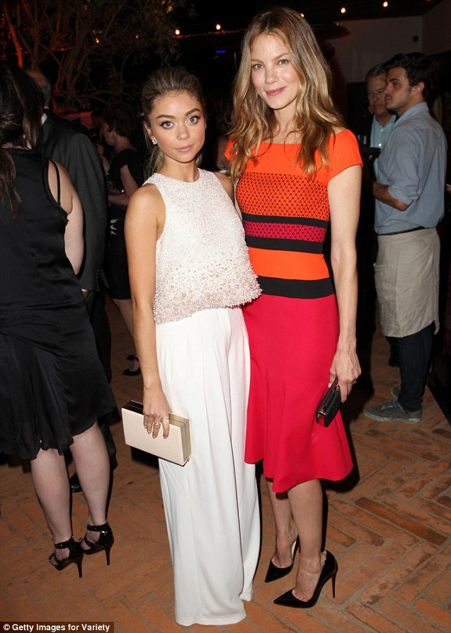 Lovely: Sarah and True Detective star Michelle Monaghan dazzled together