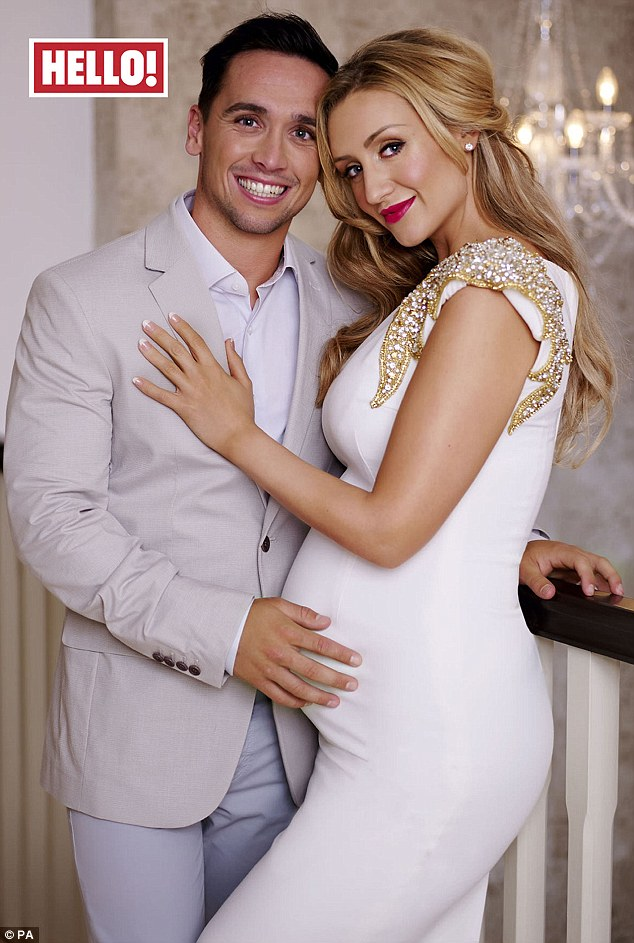 Baby on board:Coronation Street star Catherine Tyldesley has revealed she is expecting a baby withher fitness trainer boyfriend Tom Pitfield