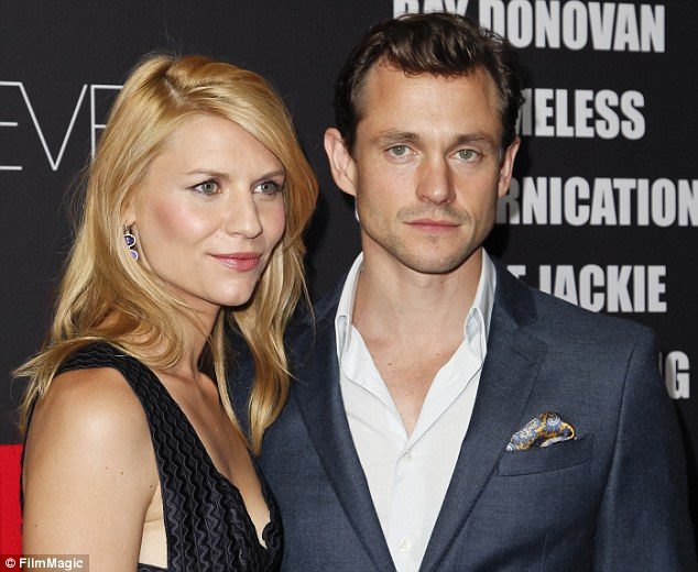 In good company: The 35-year-old actress was joined by British actor husband Hugh Dancy at party venue Sunset Tower
