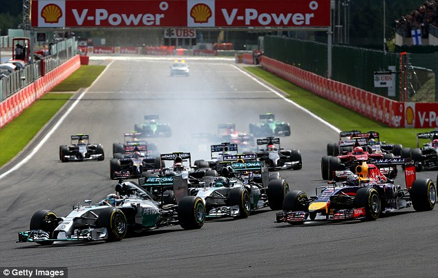 From the get go: Hamilton got off to the perfect start, overtaking pole position holder Rosberg at the beginning