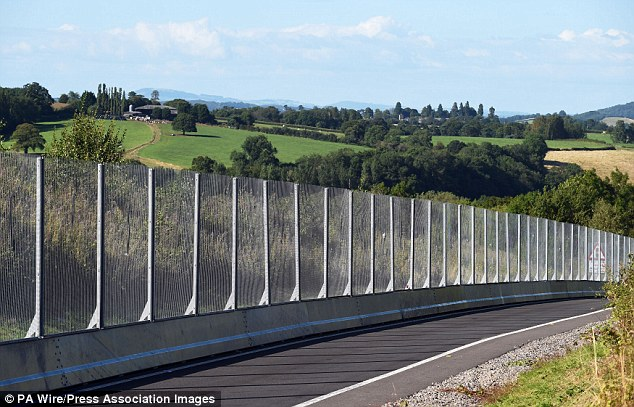 Ring of steel: The perimeter of Celtic Manor in South Wales has been surrounded with fencing to prevent attacks