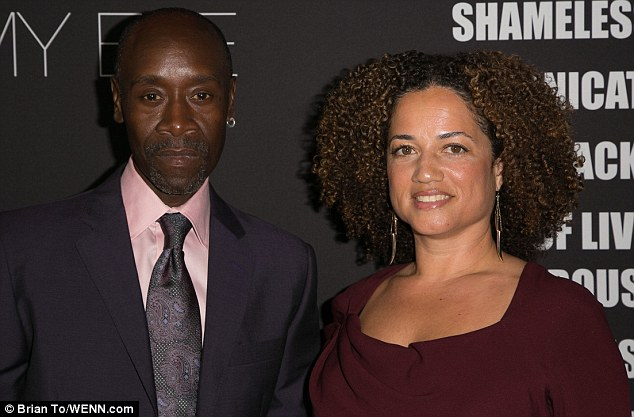 Side by side: Celebrated actor Don Cheadle arrives with Brigid Coulter