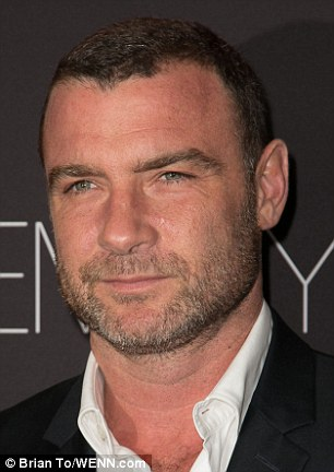 Special guests: Liev Schreiber was among the guests at the pre-Emmy party in West Hollywood on Sunday evening