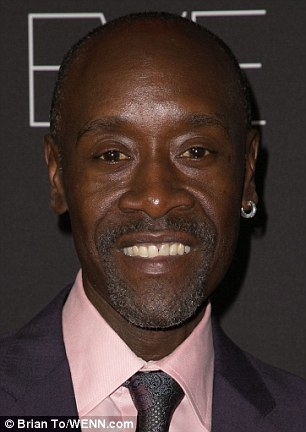 Special guests: Don Cheadle was among the guests at the pre-Emmy party in West Hollywood on Sunday evening