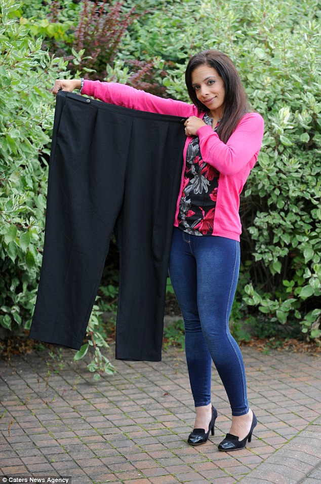 At her largest, Noha Baghdady, 38, was wearing size 24 clothes, she is now a size eight