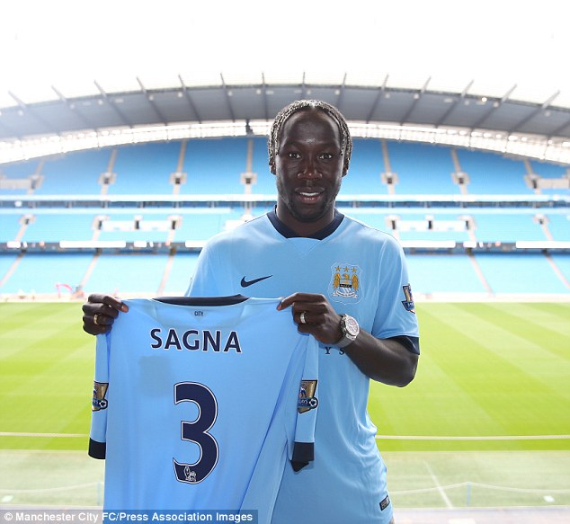 Arrival: The signing of Bacary Sagna has made Richards third-choice right-back at the Etihad Stadium