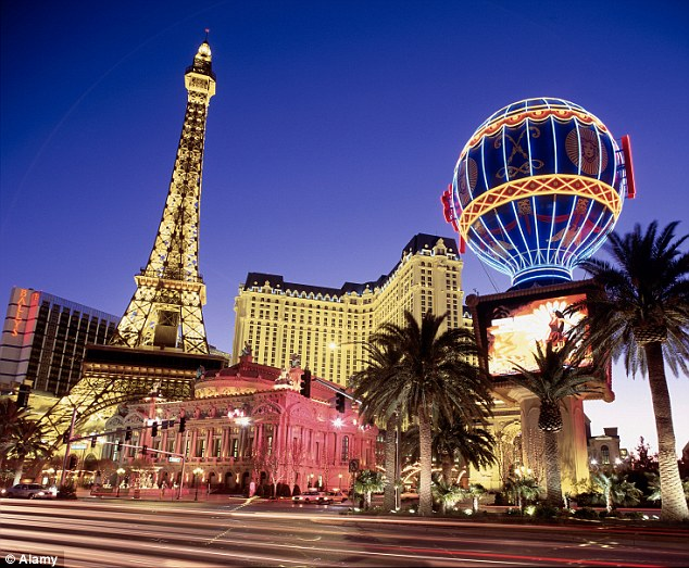 Hidden costs: The Paris Las Vegas Hotel and Casino charges guests £4.80 to print their flight boarding pass