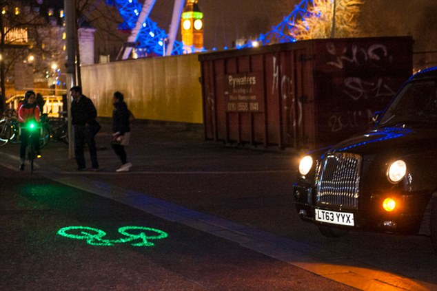 Watch out: London-based Blaze claim that just under 80 per cent of cycle accidents occur when the bicycle is travelling straight ahead and a vehicle manoeuvres into them