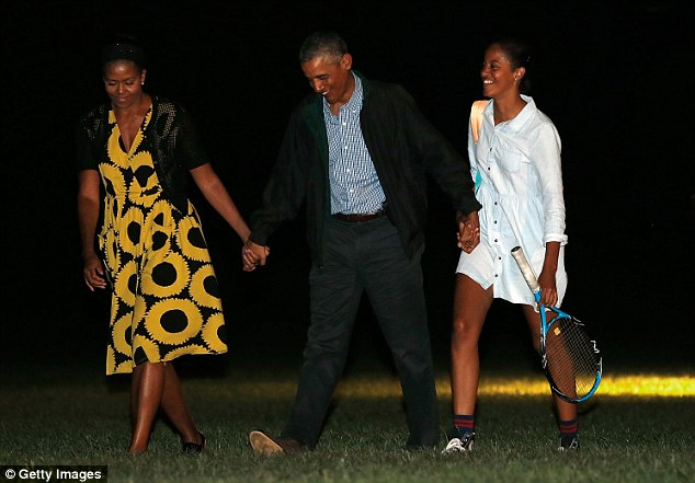 Obama returned toWashington, DC once during the vacation to attend national security meetings with senior staff