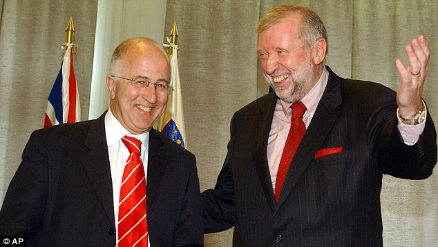 Denis MacShane, pictured here with Slovenian Foreign Minister Dimitrij Rupel, was jailed for six months for fiddling his expenses