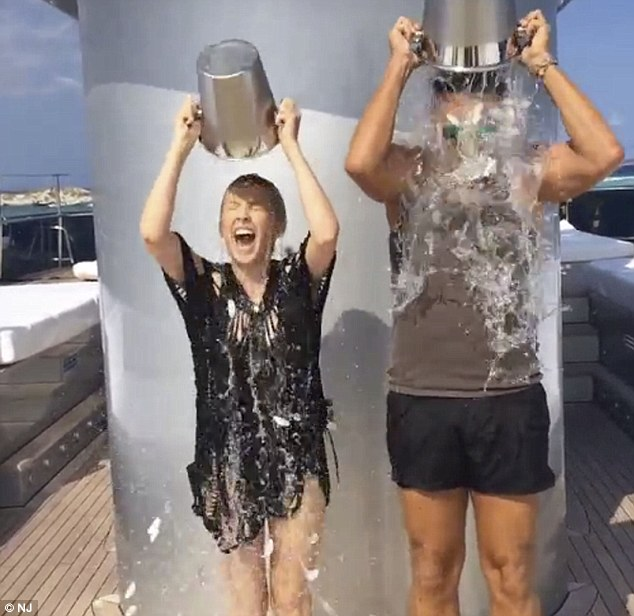 Bucket list: A soaking for Kylie Minogue and Stefano Gabbana taking on the ALS Ice Bucket Challenge
