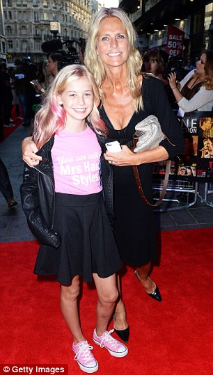 Ulrika the mother: With daughter Bo, 13, last year