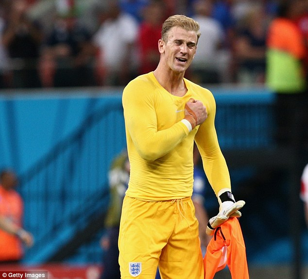 Lion-Hart: Joe Hart has been unchallenged as England's No 1 goalkeeper for some time