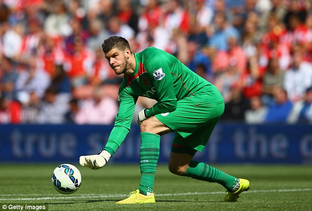 In the running: Fraser Forster has the chance to stake his claim by playing for Southampton in the top flight
