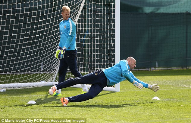 Competition: Hart knows he needs to be on top form to keep Willy Caballero out of the City side