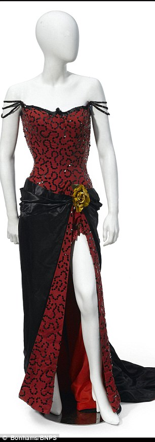This red dress was made famous by Marilyn when she wore it during the 1954 film River Of No Return