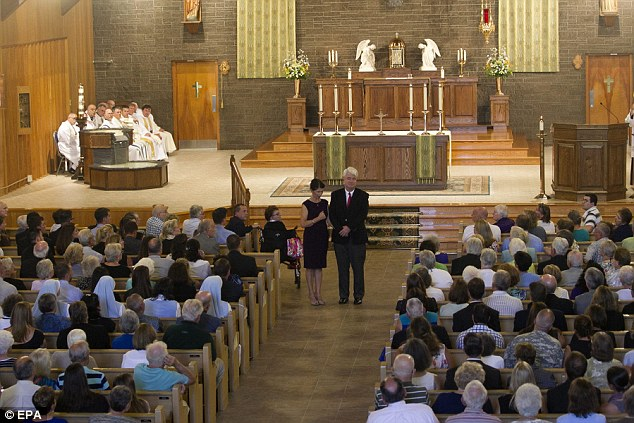 Didn't make the cut: Foley's memorial mass on Sunday drew no one from the Obama administration