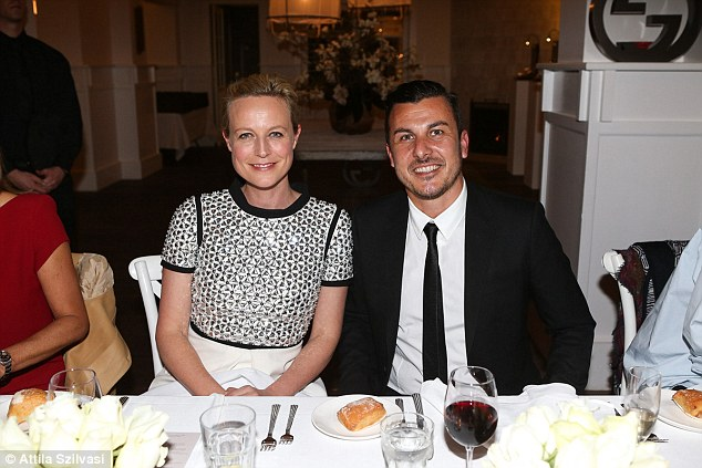 Timeless: Marta stunned in a monochrome ensemble as she mingled with Gucci Timepieces Managing Director, Nader Wassel