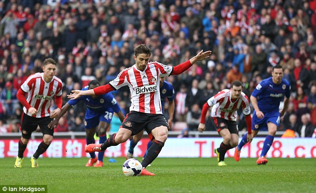 Promise: Borini scored 10 times while on loan at Sunderland, and has attracted interest from AC Milan