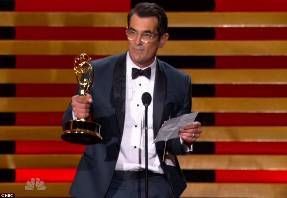 Winner: Modern Family's Ty picked up the Best Supporting Actor in a Comedy award