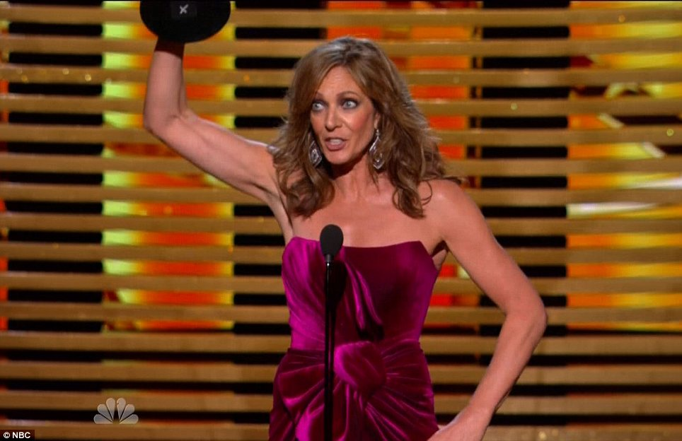 Veteran: Allison Janney grabbed the award for Supporting Actress In A Comedy Series