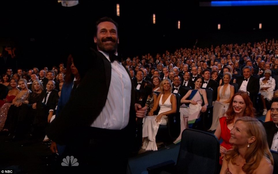 Mad Man: Jon Hamm participated in a skit during the show