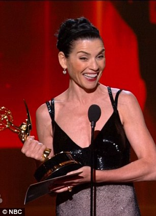 Veteran: Julianna Margulies nabbed the gong for Leading Actress In A Drama Series