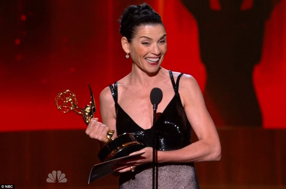 TV legend: Julianna Margulies was honoured as Best Actress In A Drama Series
