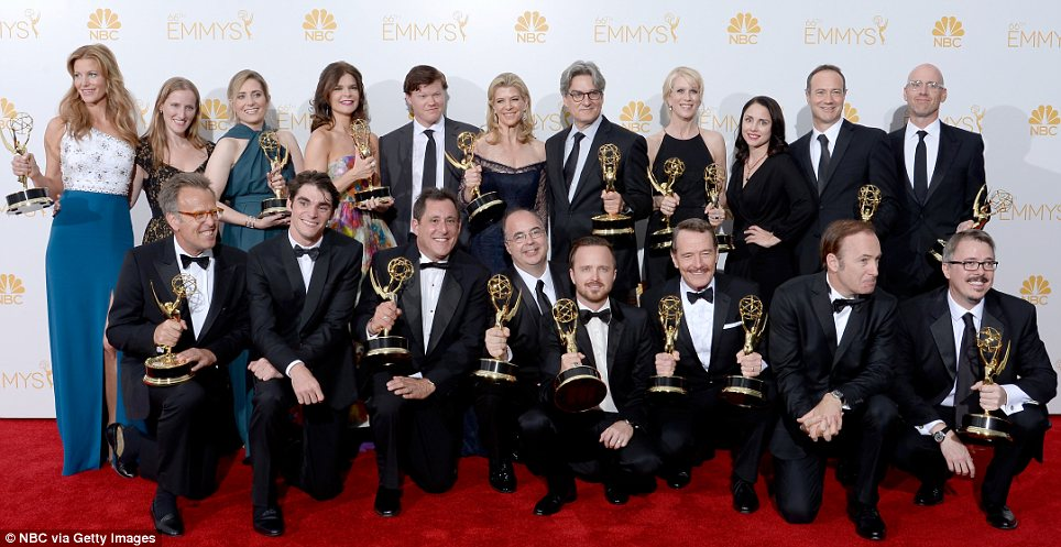 Finally! The talented cast and crew were named named winners of Outstanding Drama Series after Breaking Bad became a widespread commercial success