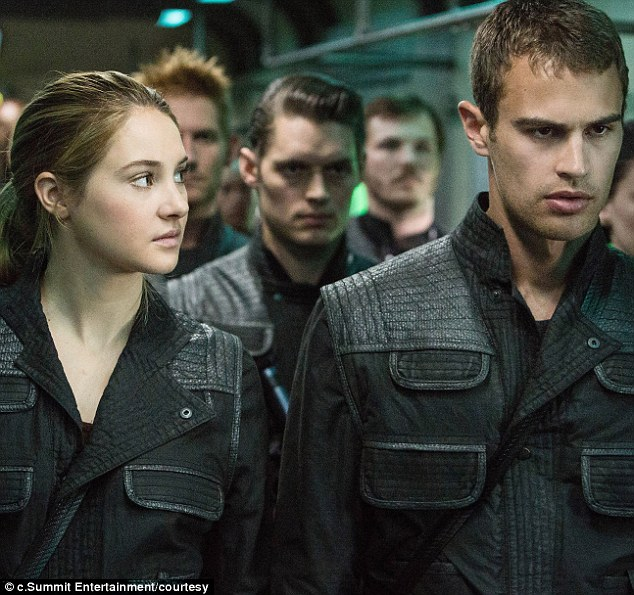 Power couple: Tris and Four fall for one another during the course of the first film