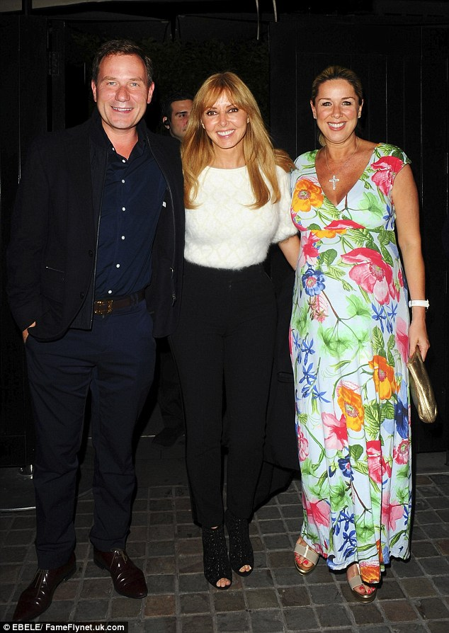 The daytime TV invasion: (L-R) Richard Arnold and former Loose Women co-hosts Carol Vorderman and Claire Sweeney were seen at London's Chiltern Firehouse on Tuesday night